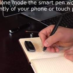 もうノートをスキャンする必要なし!書いたものと同じものがスマホにリアルタイム同期されるペン登場