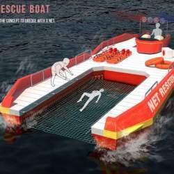 溺れた人を網ですくって助ける救命ボート「NET RESCUE BOAT」のアイデアが斬新すぎる