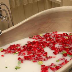 さわやかな果物の香りでリフレッシュ。季節のフルーツを使った、贅沢なお風呂はいかがですか?