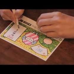 描いたものがスマホ上で動き出す! 驚きを贈るグリーティングカード「カクト AR」