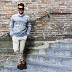 冬の定番セーター×シャツコーデを体得せよ! バリエーション豊かなセーターとシャツの組み合わせ集