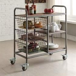 おしゃれで機能的な10台のキッチンワゴン:プラスαの家具、キッチンワゴンを置いてみる