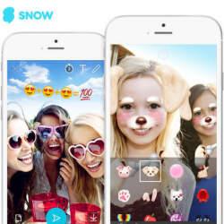 LINEが自撮りカメラアプリ「SNOW」に46億円を出資:大手企業が触手を伸ばす話題のアプリとは