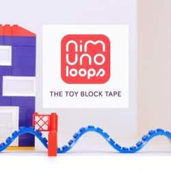 レゴブロックがテープになった「Nimuno Loops」は遊び方無限大だった!