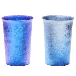美しい青に心奪われる。夏は冷たく、冬は温かさが続く中宮虎熊店「純チタンタンブラー」
