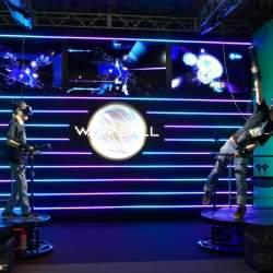 VRで遊ぶ近未来スポーツ「WARP BALL」がテレビ朝日のサマステに登場!1対1の空中戦を体感