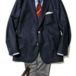 """【""""着回し力""""で選ぶジャケット&パンツ】紺ブレが一着あれば、仕事も休日も1week対応できる!"""