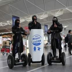 忍者がセグウェイに乗って空港案内。中部国際空港セントレアで新たな忍者ツーリズムが始動
