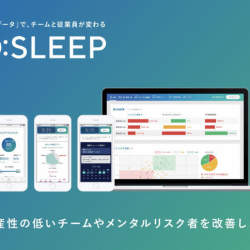 """生産性低下と休退職のキーは""""睡眠""""!「O:」が世界初を実現、睡眠データから休退職率と生産性低下をAIで高精度予測"""