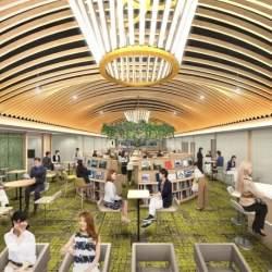 東梅田駅徒歩1分の好立地!10分100円から利用できる巨大コワーキングスペースがオープン