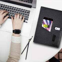 商談中も気づかれずにスマホを充電できる「充電ノート」が発売