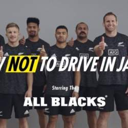 AIGがオールブラックスと制作した日本の交通ルール紹介動画、再生回数1,200万回を突破