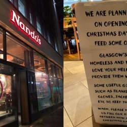 英国の人気チキン料理店が「クリスマスにホームレスにご馳走をする」と表明