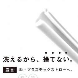 開閉して洗える「SUTENAIシリコンストロー」発売。脱プラスチックストローを実現