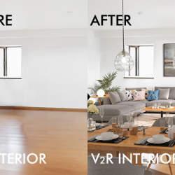 バーチャルで家具のある状態を再現する不動産サービス「V2Rインテリア」が登場