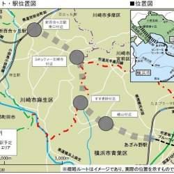 横浜市営地下鉄ブルーラインの延伸ルート・駅位置が決定!新駅は4駅、周辺のまちづくりの方向性は?