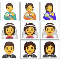 Unicode、新たに絵文字117種を追加 ミルクをあげる男性など時代を反映