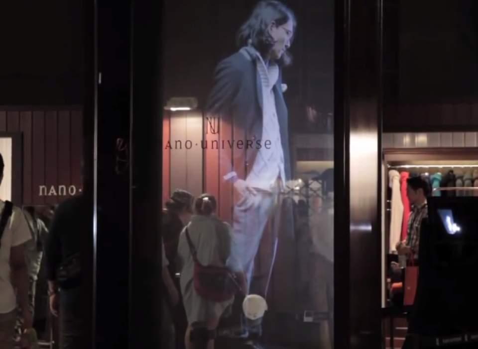 【動画】ショーウインドーの中に現れた、幻の美男美女。ホログラムで変わるファッションショーの未来 1番目の画像