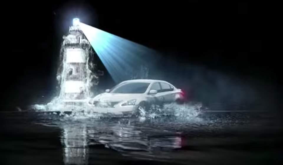 車が水の上を駆け抜ける!日産が作った「水上プロジェクションマッピング」が海外で話題に 2番目の画像