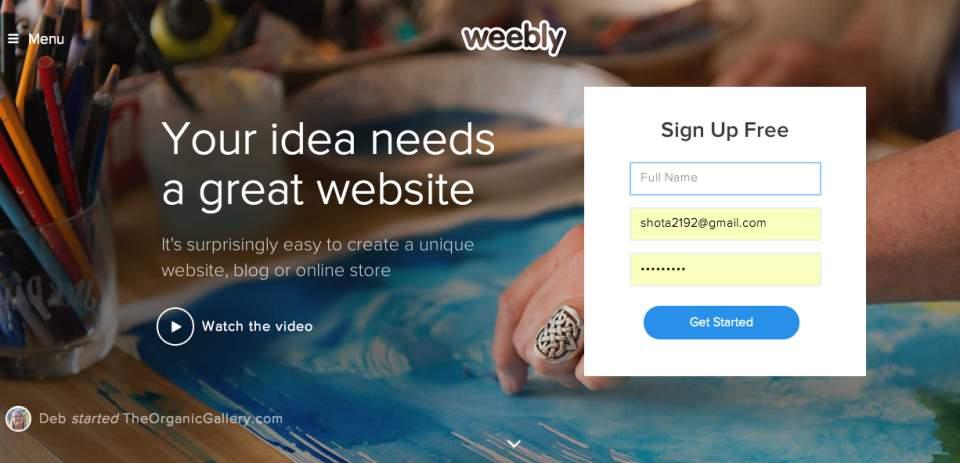 WordPressの代替になる?ドラッグ&ドロップだけでサイトが作れてしまう「Weebly」 1番目の画像