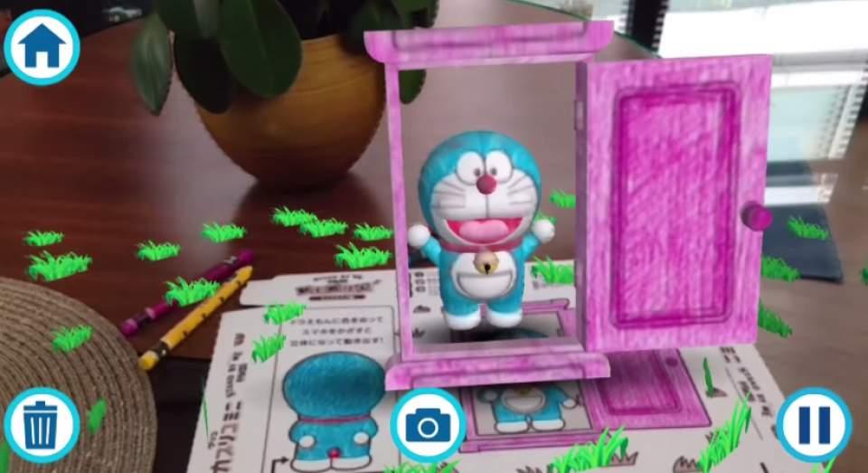【動画】ARアプリでドラえもんが動き出す?グリコのおまけ「動くぬりえ」が凄すぎる  1番目の画像