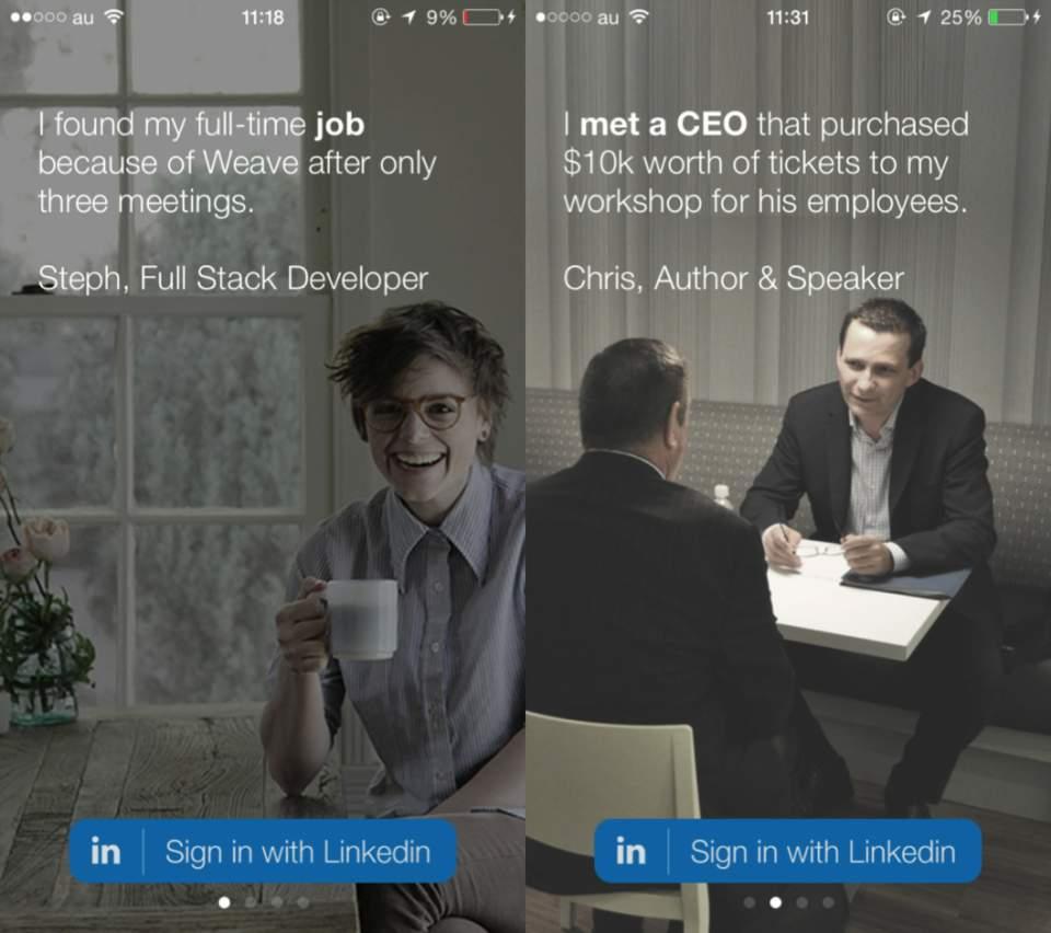 ビジネスマンの出会い系?会ってみたいビジネスマンと会えるかもしれないアプリ「Weave」 2番目の画像