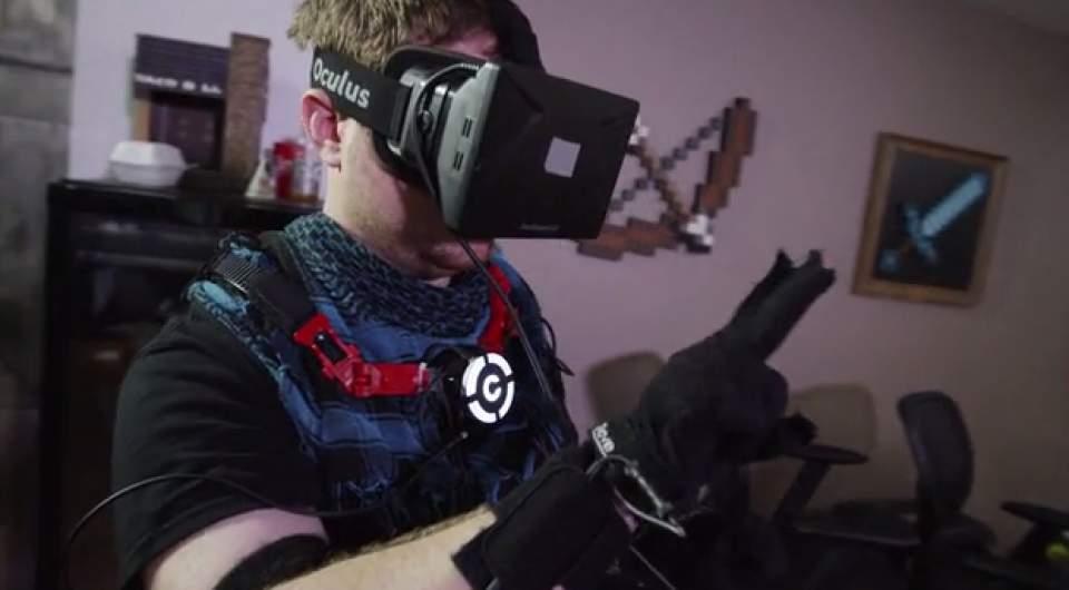 ついに仮想空間に体が入る(手だけ)!指一本まで反映するグローブ型VR機器「Control VR」 2番目の画像