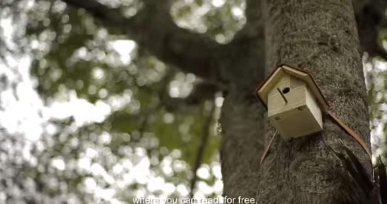 鳥の巣がある木から電子書籍が入手できる!コロンビアの通信会社が仕掛けた「読書率向上」大作戦 3番目の画像