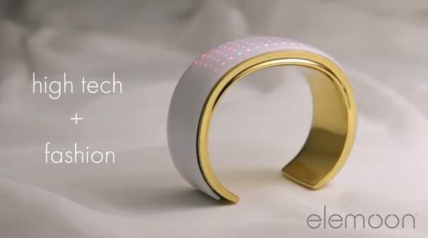 おしゃれで幻想的なライト。服に合わせてカラーを変えるブレスレット型デバイス「elemoon」 2番目の画像