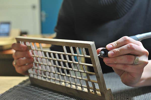 完全オーダーメイドの木製キーボード!フランスの職人が全て手造するキーボードがカッコいい。 4番目の画像