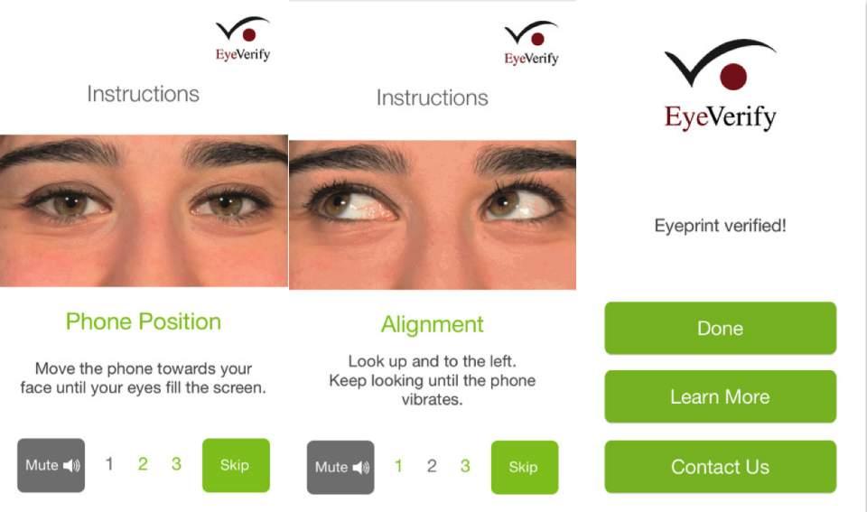 あなたのスマホでも眼認証ができる!?自分の目をパスワード代わりにするアプリ「EyeVerify」 2番目の画像
