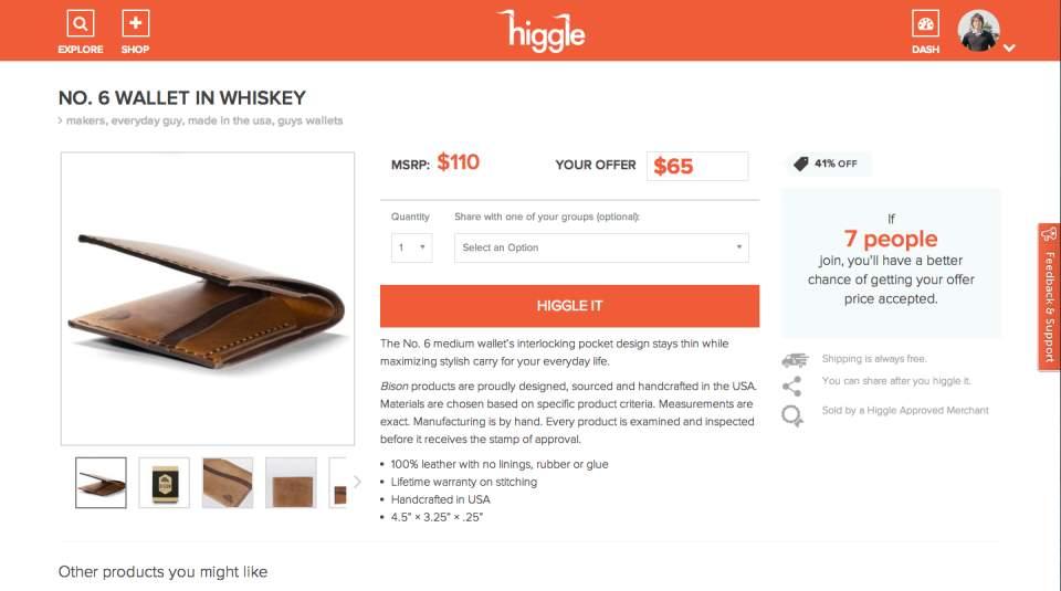 買う側が値段を決める!?欲しい商品の値段を自分で決められるサービス「Higgle」 2番目の画像