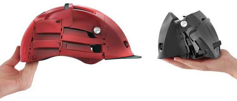 自転車乗りの皆さん!折りたためてカバンにしまえるヘルメット「Plixi」が便利です 3番目の画像
