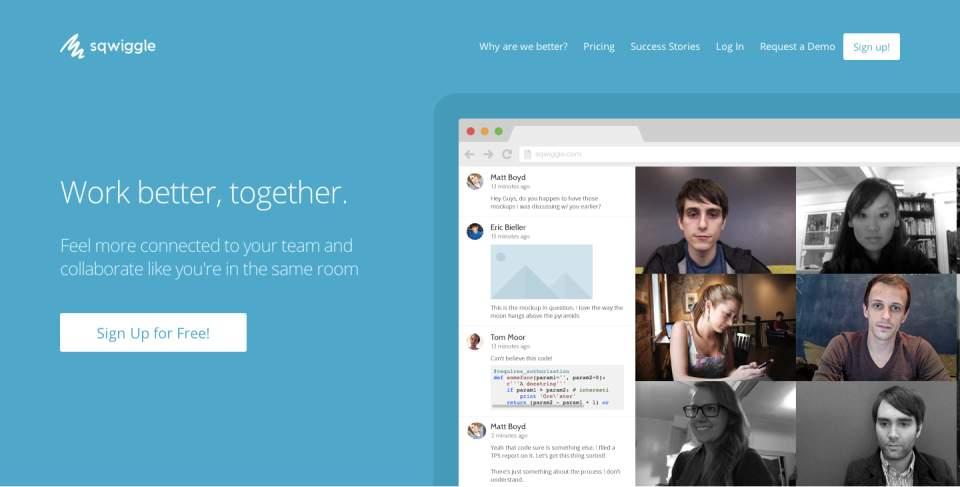 Skypeはもういらない。リモート会議なら最強の「Sqwiggle」でビデオチャットをしよう 1番目の画像