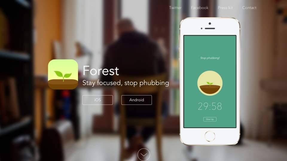 自分の集中力で森を育てる?集中力の持続時間を図れるアプリがシュールで面白い 1番目の画像