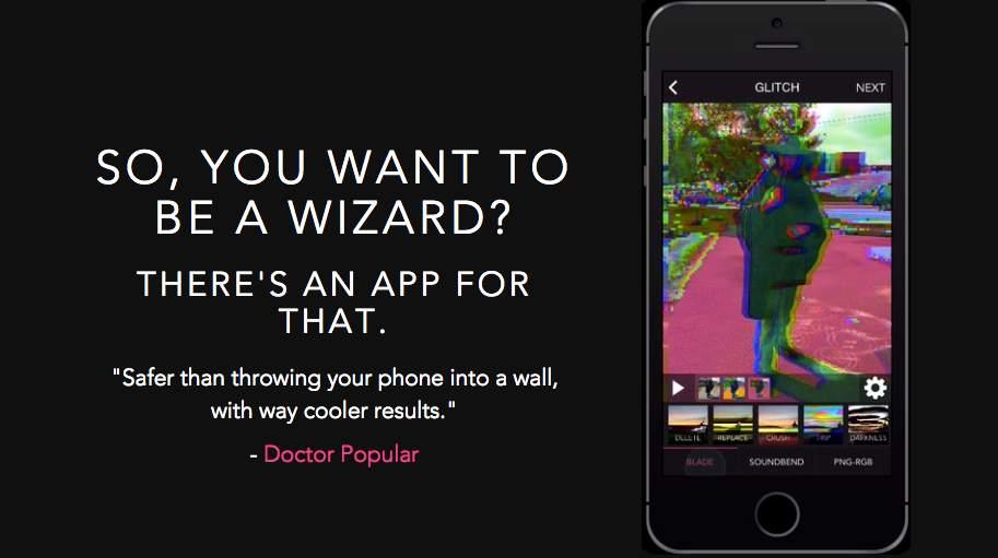 アヴァンギャルドな画像編集アプリ「Glitch Wizard」があなたの写真に魔法をかける 1番目の画像