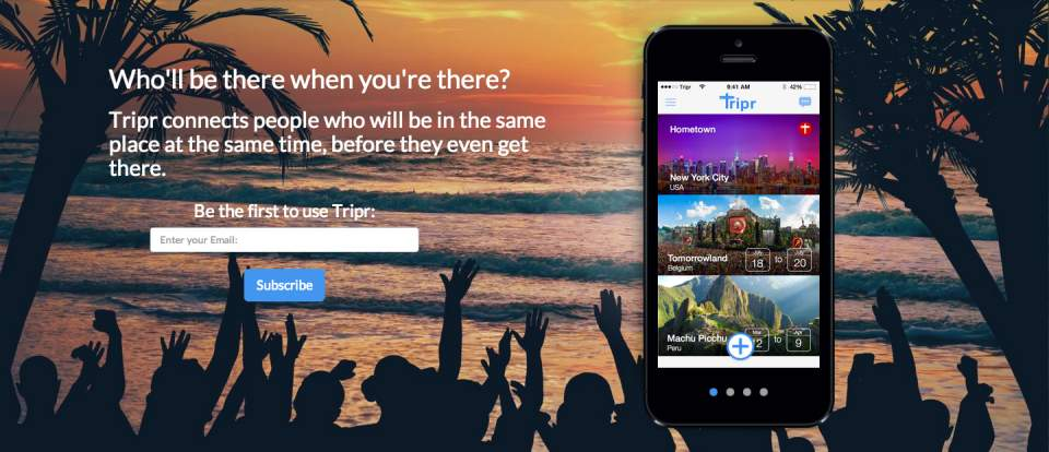 怖い?楽しい?同じ旅行先に行きたい人を探して一緒に旅ができるアプリ「Tripr」が面白そう 1番目の画像