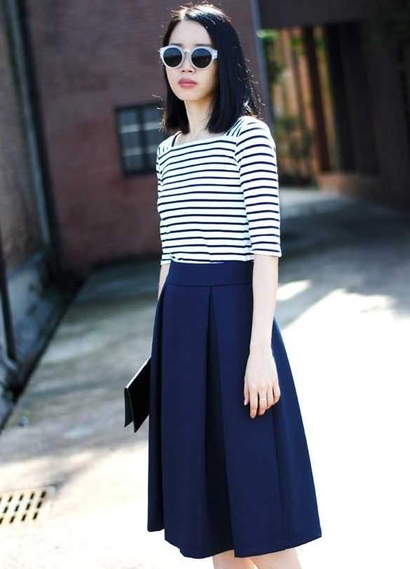 失敗したくないスカートの丈選び。今期おすすめはオフィスでも使えるミモレ丈 2番目の画像