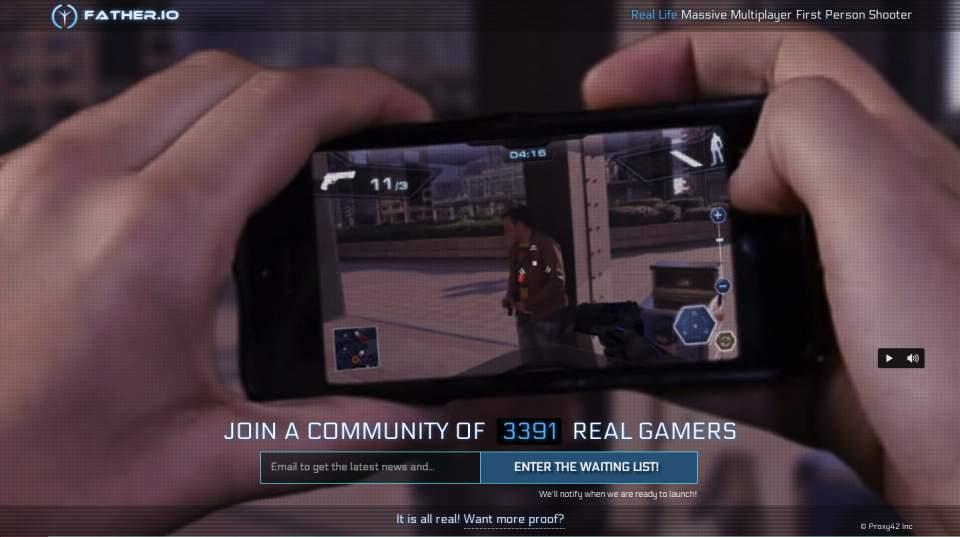 これが次世代のFPS!スマホ片手に現実世界で撃ち合うゲーム「FATHER.IO」が最高に楽しそう 1番目の画像