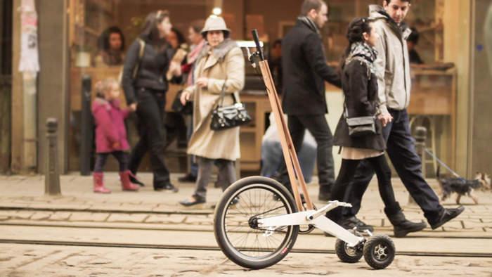 見た目はセグウェイ、中身は自転車な3輪カート「Halfbike」が完全に新しい乗り物だった 2番目の画像