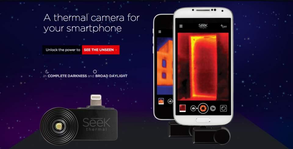 手持ちのスマホが赤外線サーモグラフィーになる「Seek thermal」の使い道、考えてみた 1番目の画像