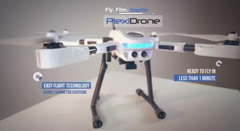 撮る!喋る!追いかける!GPSで追いかけてくるドローン「Plexi Drone」がカッコかわいい 2番目の画像