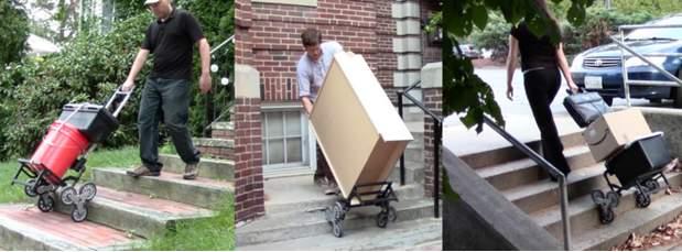 たまにはアナログなアイデアもいいでしょ? 段差も階段も楽々登れるキャリーカート「UpCart」 6番目の画像