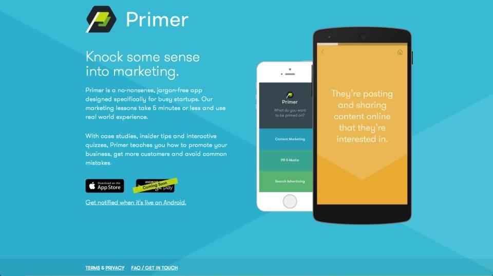 Webマーケティングの基礎知識を学ぶなら! 「Primer」でGoogleがマーケターを徹底教育 1番目の画像