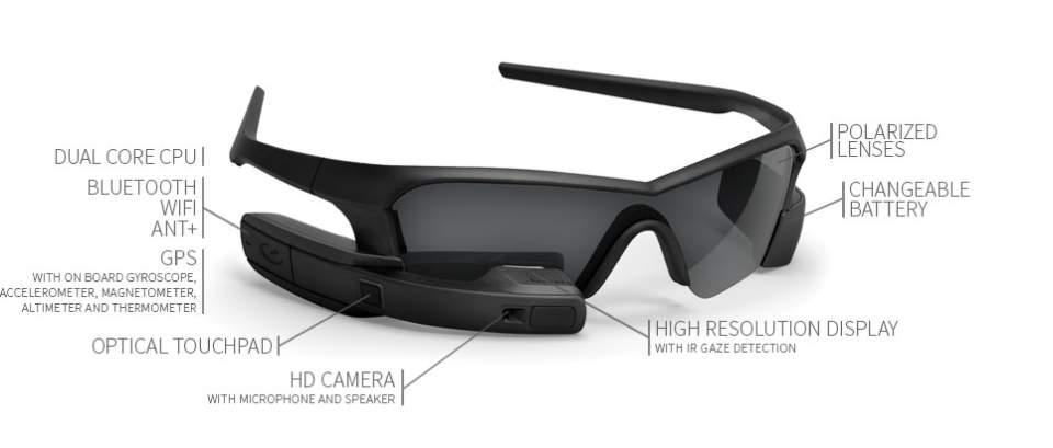 もうSFの世界はそこに。スポーツマンの全てを表示するメガネ型ウェアラブル「JET」 2番目の画像