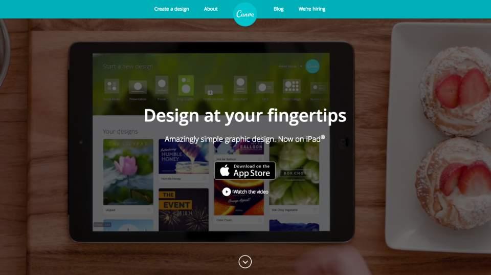 今日からあなたもデザイナー、iPadがあれば。ドラック&ドロップでデザインできる「Canva」 1番目の画像