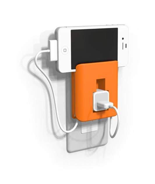 使わない時も、充電中もスマートに。ケーブルを収納しておけるiPhone用『充電器ホルダー』 3番目の画像