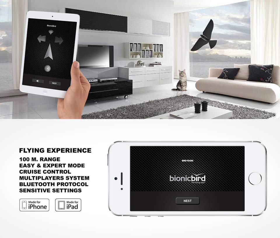 iPhoneで簡単操縦! 鳥型ドローン「Bionic Bird」で空を縦横無尽に飛び回れ 5番目の画像
