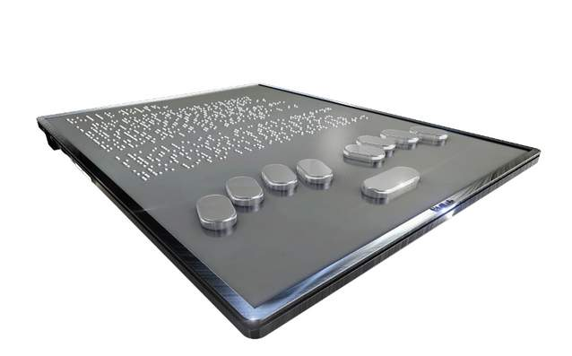タブレットでも点字が読める! 世界初の点字が実際に浮き出るタブレット「BLITAB」 2番目の画像