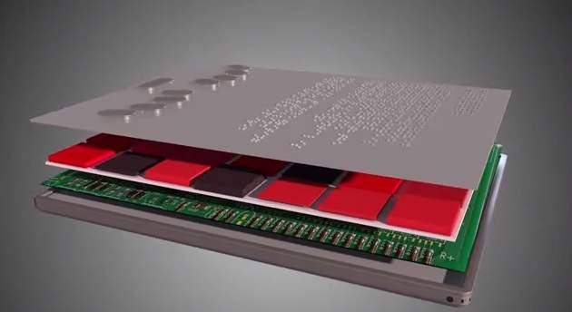 タブレットでも点字が読める! 世界初の点字が実際に浮き出るタブレット「BLITAB」 3番目の画像